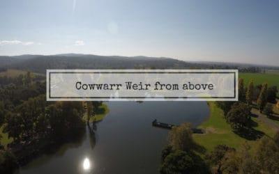 Cowwarr Weir from above