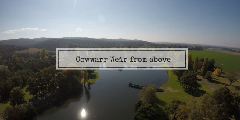Cowwarr Weir capture from a drone