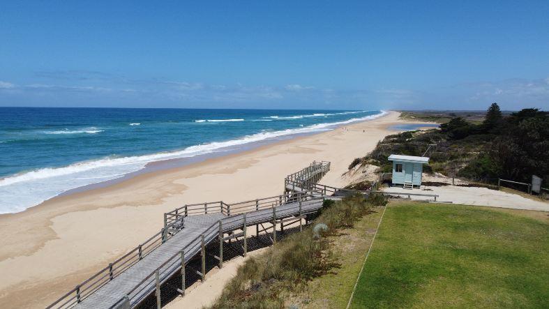 white sand beach at Seaspray Australia
