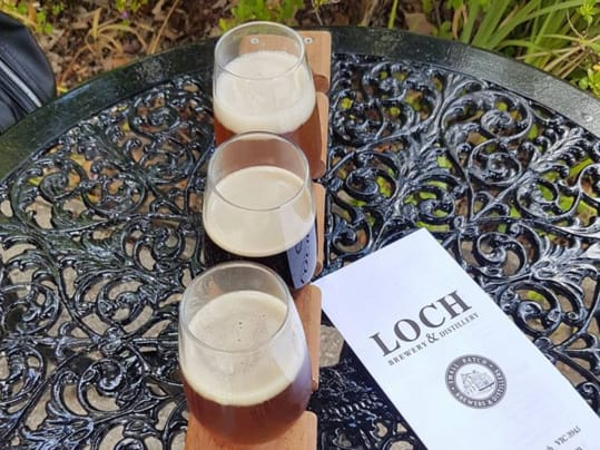 Beer paddle at Loch Brewery and Distillery