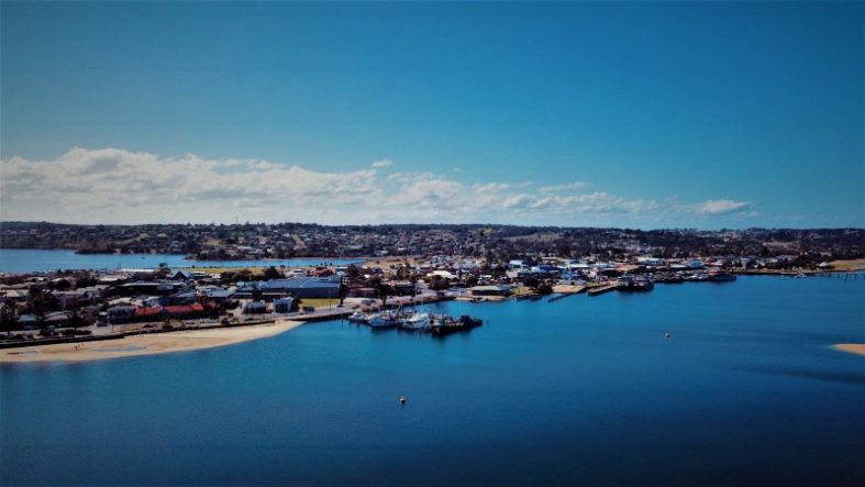 Lakes Entrance on the Gippsland Lakes Australia