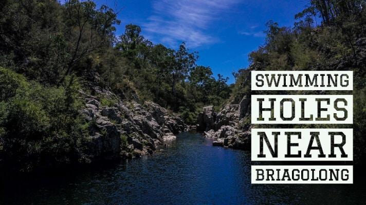 Bush swimming at Briagolong