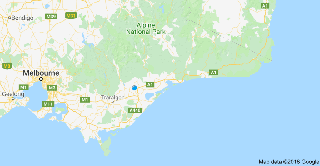 Map of Gippsland Australia