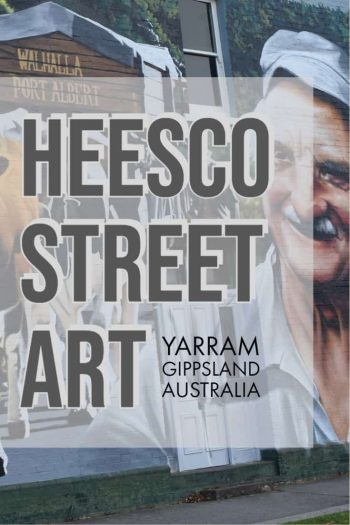 Yarram in Gippsland Australia is new home of Heesco street art. This small South Gippsland town has 10 murals dotted around the town for tourists to see and find. Yarram | Gippsland | South Gippsland | Gippsland Victoria | Gippsland Victoria Australia | art | Street art | Heesco | #gippsland #art #streetart #southgippsland #Yarram #heesco #graffiti via @wyldfamtravel