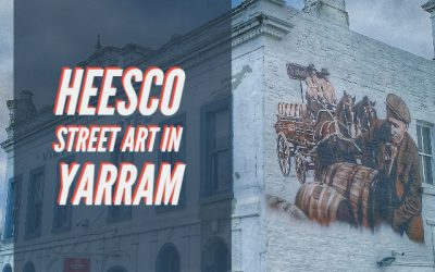 Heesco street art in Yarram Victoria