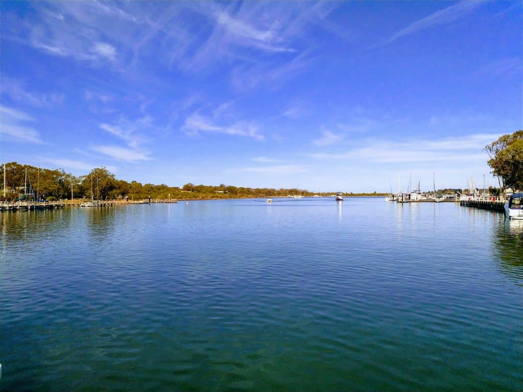 A waterway at Paynesville. being on the water os one of the best things to do in Paynesville