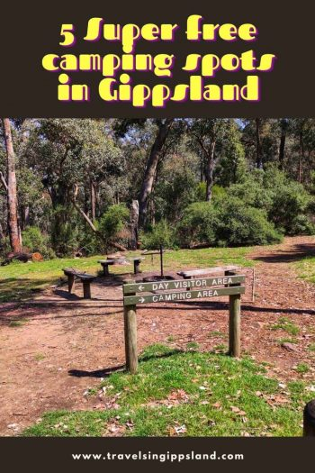 Do you want to go camping in Gippsland? We have 5 amazing free camping spots in Gippsland for you. In the mountains or by the water we have a spot for everyone. Come to Gippsland and go camping Gippsland | Gippsland Australia | 90 Mile Beach | Gippsland national Parks | Dargo | Golden Beach | Camping in Gippsland via @wyldfamtravel